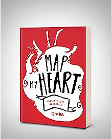 Map My Heart Doodle Book