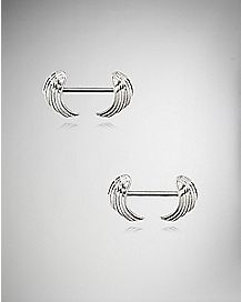 Wing Nipple Ring - 14 Gauge