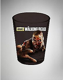 Foil Zombie Hand The Walking Dead Shot Glass 1.5 oz