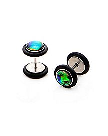 Black Rainbow Fake Plugs - 18 Gauge