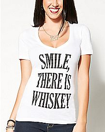 Smile There Is Whiskey T shirt