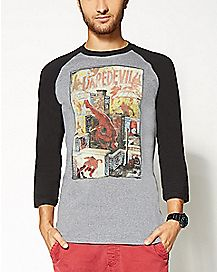 Comic Daredevil Raglan T shirt