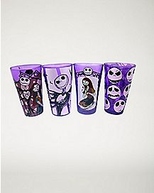 Purple Nightmare Before Christmas Pint Glass Set 16 oz