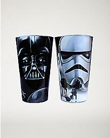 Darth Vader & Trooper Star Wars Pint Glass 2 Pack 16 oz
