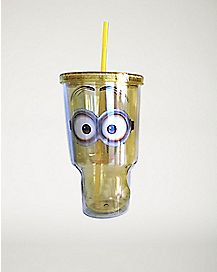 Minions Face Despicable Me Cup With Straw - 32 oz