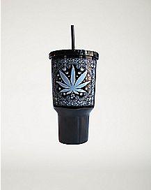 Pot Leaf Bandanna Cup With Straw - 32 oz.
