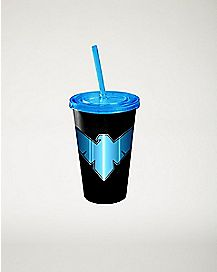 Nightwing DC Comics Cup With Straw 16 oz