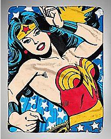 Denied Wonder Woman Fleece Blanket