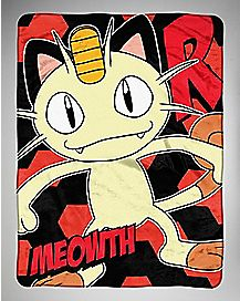 Meowth Pokemon Fleece Blanket