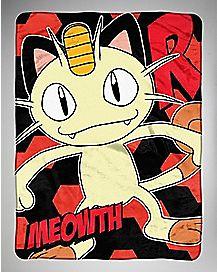 Meowth Pokemon Fleece Blanket