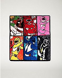 Group Grid Power Rangers Fleece Blanket