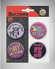 Birthday Queen Button Set