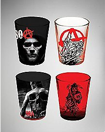 Jax And the Reaper Sons of Anarchy Shot Glasses 4 Pack