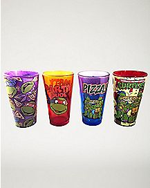 Multi Pizza TMNT Pint Glass 4 Pack 16 oz