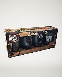 Faces Walking Dead Pint Glass 4 Pack 16 oz
