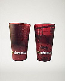 Guns Walking Dead Pint Glass 2 Pack 16 oz