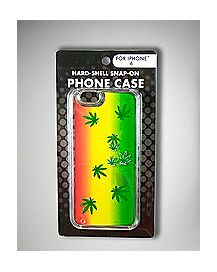 Rasta Pot Leaves iPhone 6 Case