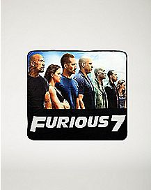 Sublimated Fast & Furious 7  Fleece Blanket