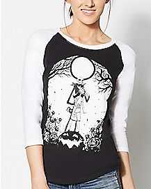Nightmare Before Christmas Raglan T shirt