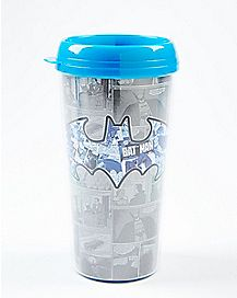Gray & Blue Batman Travel Mug 16 oz