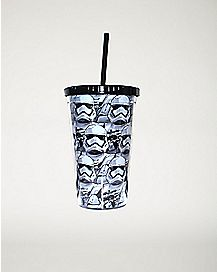 Stormtrooper Star Wars Cup with Straw 16 oz.
