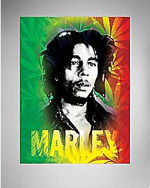 Rasta Pot Leaf Bob Marley Fleece Blanket
