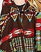 Brown Tribal Poncho