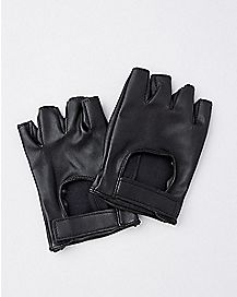 Biker Fingerless Gloves