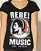 Green Lace Back Rebel Music Bob Marley T shirt