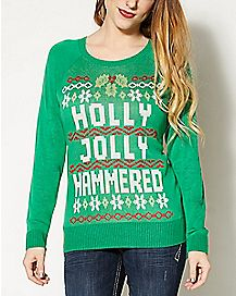 Holly Jolly Hammered Ugly Christmas Sweater