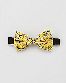 Collage Smiley Face Bow Tie