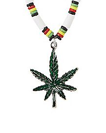 Industrial Rasta Leaf Necklace