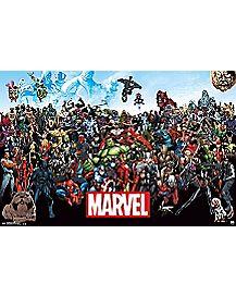 Line Up 15 Marvel Poster