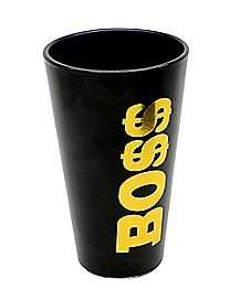 Gold Foil Boss Pint Glass 16 oz