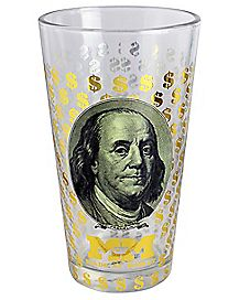 Gold Foil Ben Pint Glass - 16 oz