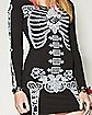 Skeleton Rose Long Sleeve Bodycon Dress