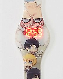 Group Shot Attack on Titan LED Watch