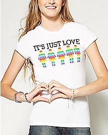 Its Just Love Rainbow T Shirt