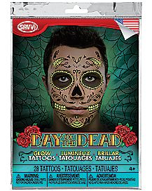 Day of the Dead Glow Tattoos