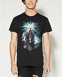 Light & L Burst Death Note T shirt