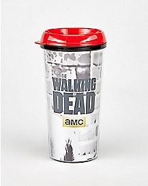 Foil Rick Grimes Walking Dead Travel Mug 16 oz