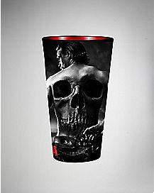 Skull Back Jax Sons of Anarchy Pint Glass 16 oz