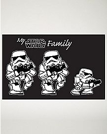 Family Star Wars Decal Kit