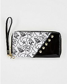Studded Nautical Zip Wallet