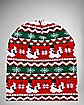 Humping Snowmen Ugly Sweater Beanie Hat