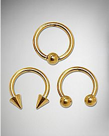 Captive Rings 3 pack -14 Gauge