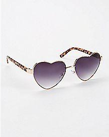 Heart Cheetah Sunglasses
