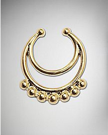 Fake Ball Loop Septum Nose Ring