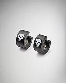 18 Gauge Punisher Huggie Earrings