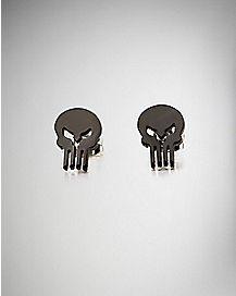 20 Gauge Steel Black Punisher Earrings